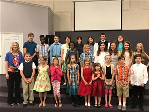 Spring Recital at MidValley Bible Church May 2017